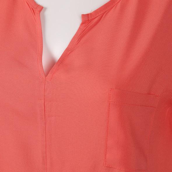 Damen Shirt im Materialmix