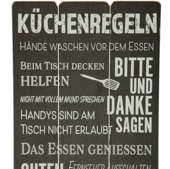 Bild mit Küchenregeln 30x60cm