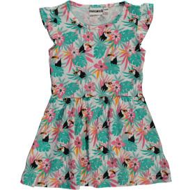 Mädchen Kleid im Tropical Print