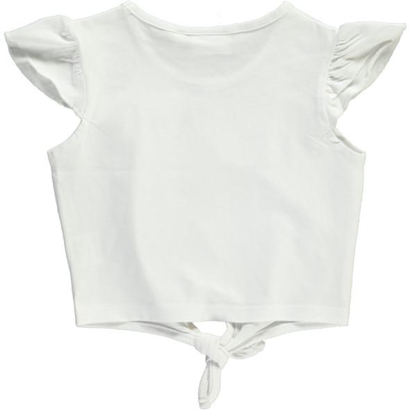 Mädchen Shirt mit Pailletten und Knoten