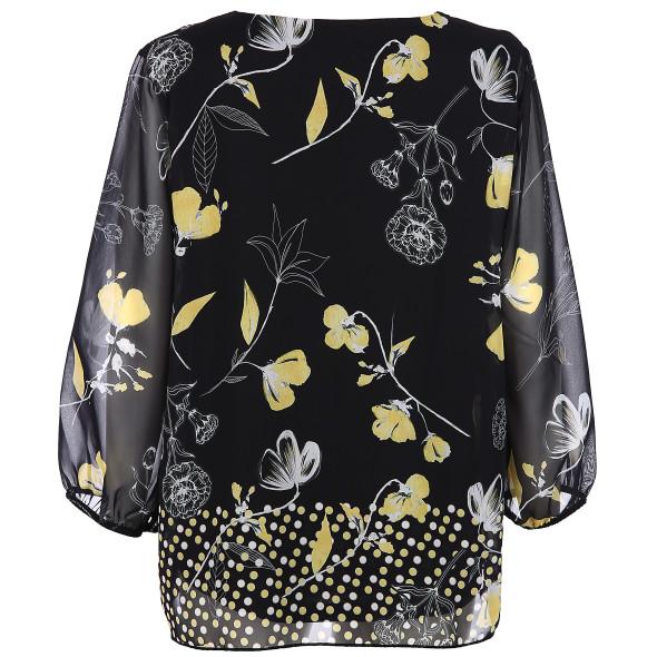 Damen Chiffonbluse mit floralem Print