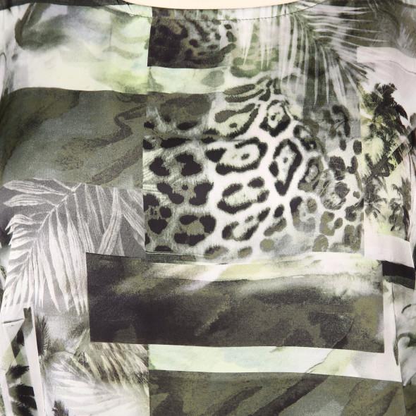 Große Größen Materialmix Shirt