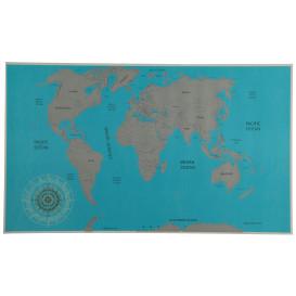 Rubbel Weltkarte 88x52cm