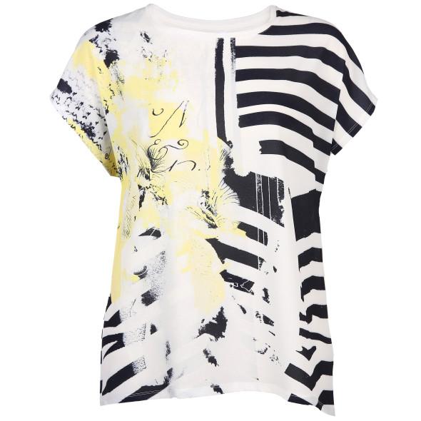 Große Größen Materialmix Shirt mit Print