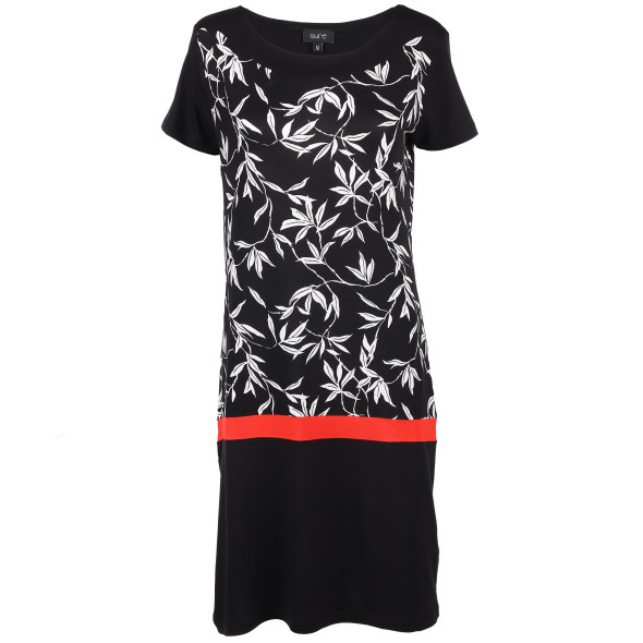 Damen Kleid in Kontrasteinsatz