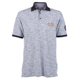 Herren Poloshirt in melierter Optik