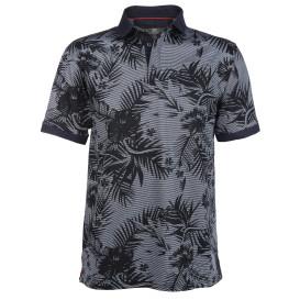 Herren Poloshirt mit Alloverprint