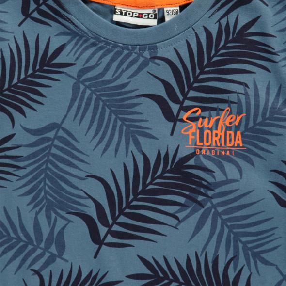 Jungen T-Shirt im Blätterprint