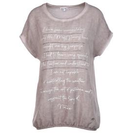 Damen Leinen-Mixshirt mit Nieten
