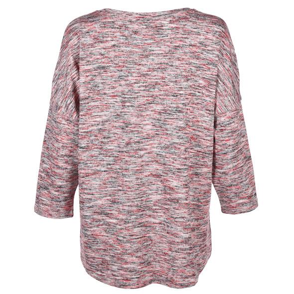 Damen Oversized Shirt in melierter Optik