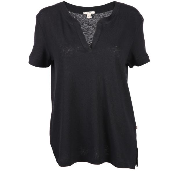 Damen Webshirt mit Serafino Ausschnitt