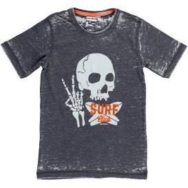 Jungen Shirt mit Totenkopfprint