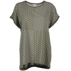 Damen Materialmixshirt im Blumenprint