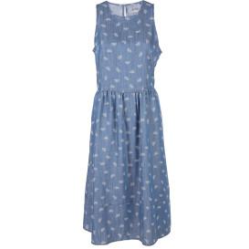 Damen Denimkleid mit Minimalprint