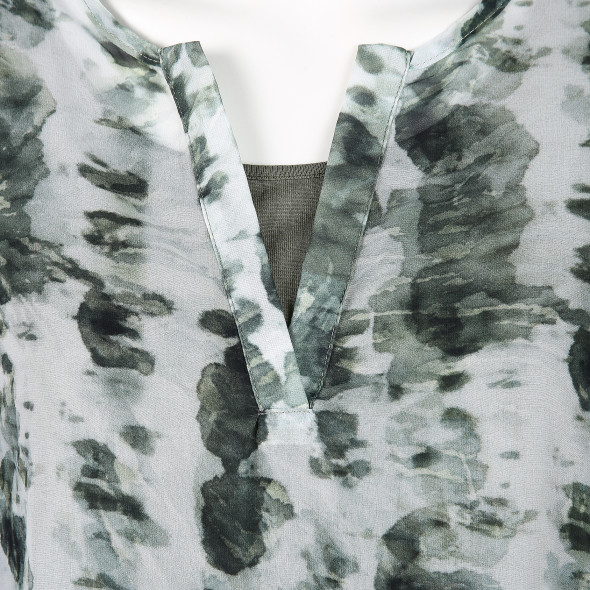 Damen Chiffonbluse im Batikprint
