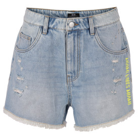 Damen Hotpants mit Print in High-Waisted