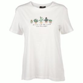 Damen T-Shirt mit Print und Schriftzug
