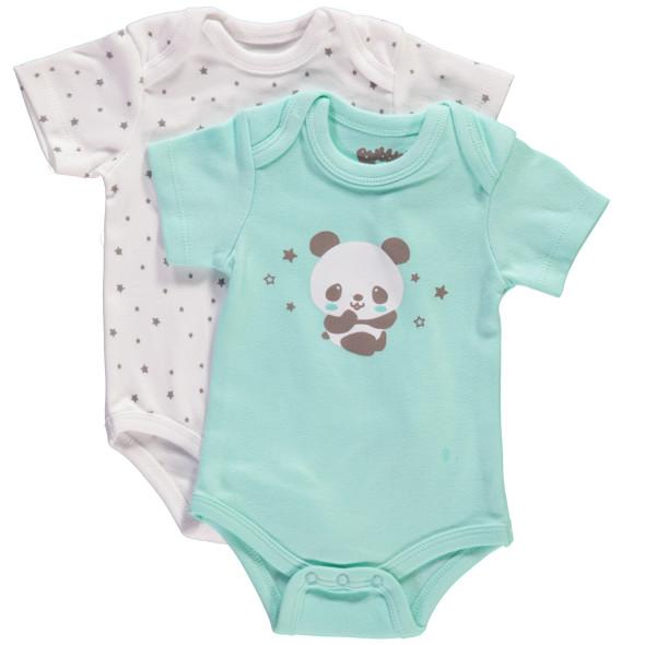 Baby unisex Kurzarmbodies im 2er Pack