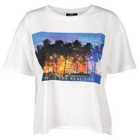 Damen T-Shirt in Kastenform mit Print