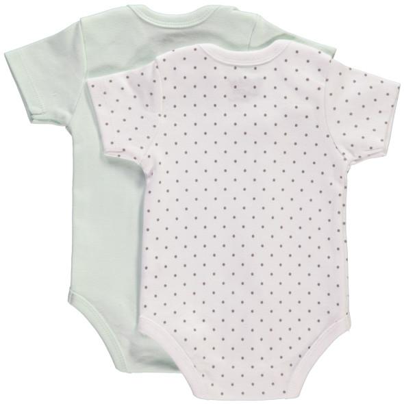 Baby Unisex kurzarm Body im 2er Pack