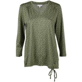 Damen Shirt mit Alloverprint und 3/4 langem Arm
