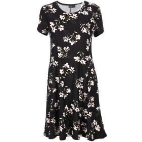 Damen Jerseykleid im Blumenprint