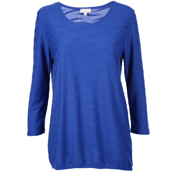 Damen Jaquard Shirt mit 3/4 Arm