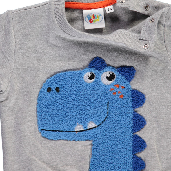 Baby Sweatshirt mit Dino Applikation