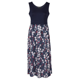 Damen Jersey-Hängerchen Kleid mit Blumenprint