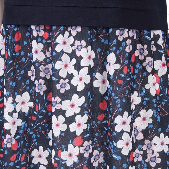 Damen Jersey-Kleid mit Blumenprint
