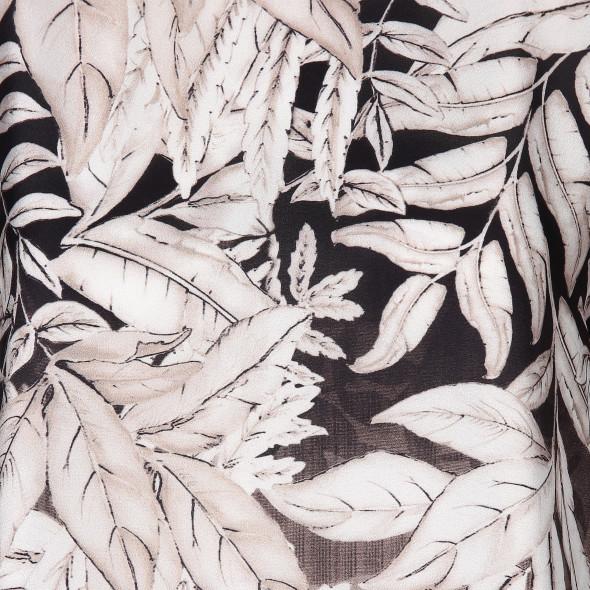 Damen Materialmixshirt im edlen Papierdruck