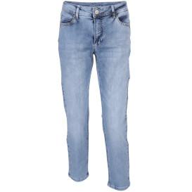 Damen Capri Jeans mit Glitzersteinchen