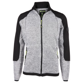 Herren Fleecejacke in melierter Optik