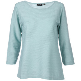 Damen Struktur Shirt mit 3/4 Arm