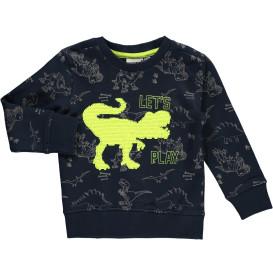 Jungen Sweatshirt mit Kipp-Paillettenmotiv