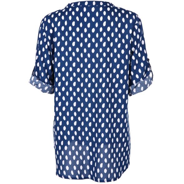 Damen Bluse mit Pünktchenprint