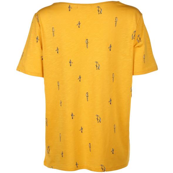 Damen T-Shirt mit kleinem Vogelmotiv