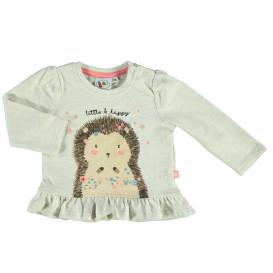 Baby Langarmshirt mit Print und Volant