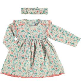 Baby Mädchen Set bestehend aus Kleid und Stirnband