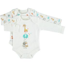 Baby Body mit Print im 2er Pack