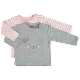 Baby Mädchen Langarmshirts im 2er Pack