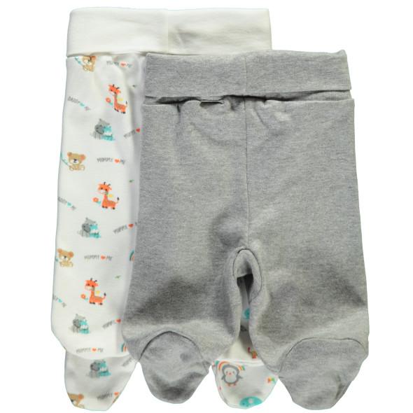 Baby Schlupfhose mit Fuß im 2er Pack