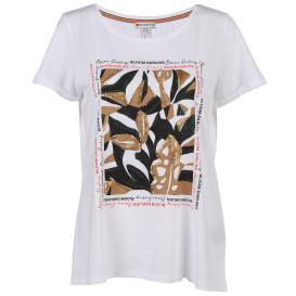 Damen Shirt mit Print, Pailletten und Glitzersteinchen