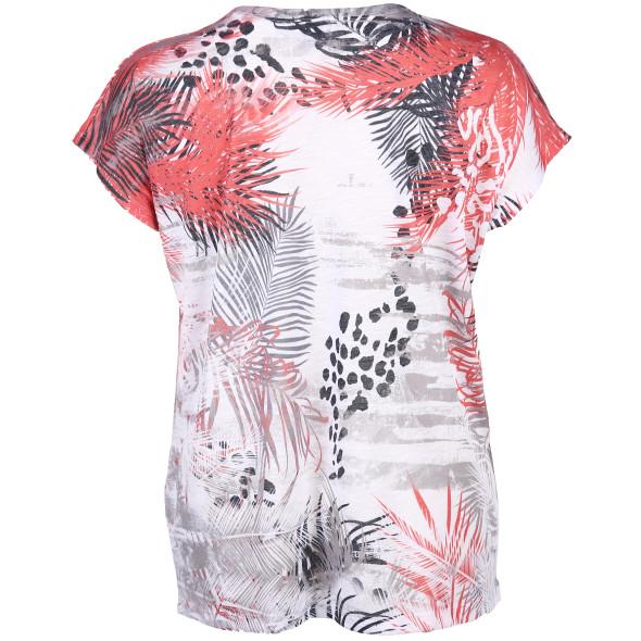 Große Größen Shirt mit Print und Strasssteinchen