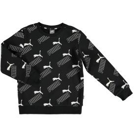 Jungen Sweatshirt mit Logo Alloverprint