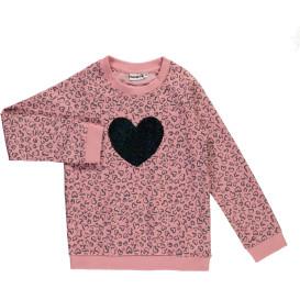 Mädchen Sweater mit Wende-Paillettenmotiv