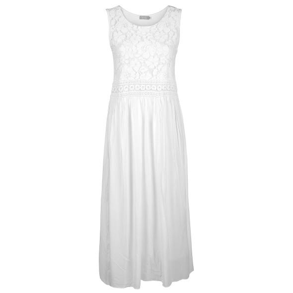 Damen Jersey Kleid mit Spitze