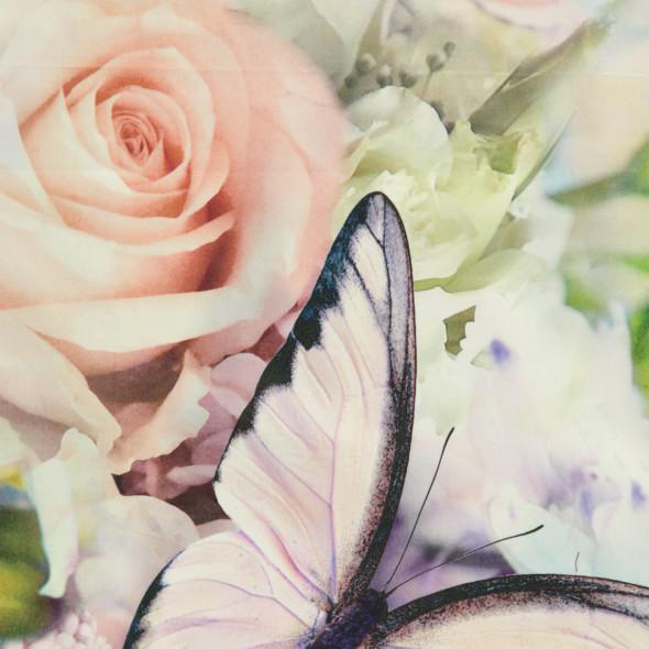 Satinbettwäsche im Schmetterlingsdessin 155x220cm