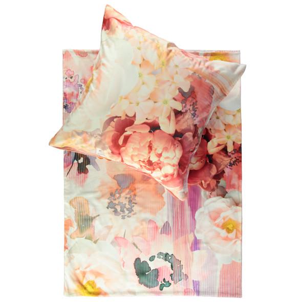 Satinbettwäsche im Blumendessin 135x200cm