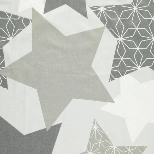 Biberbettwäsche mit Sternmotiv 4tlg. 135x200cm